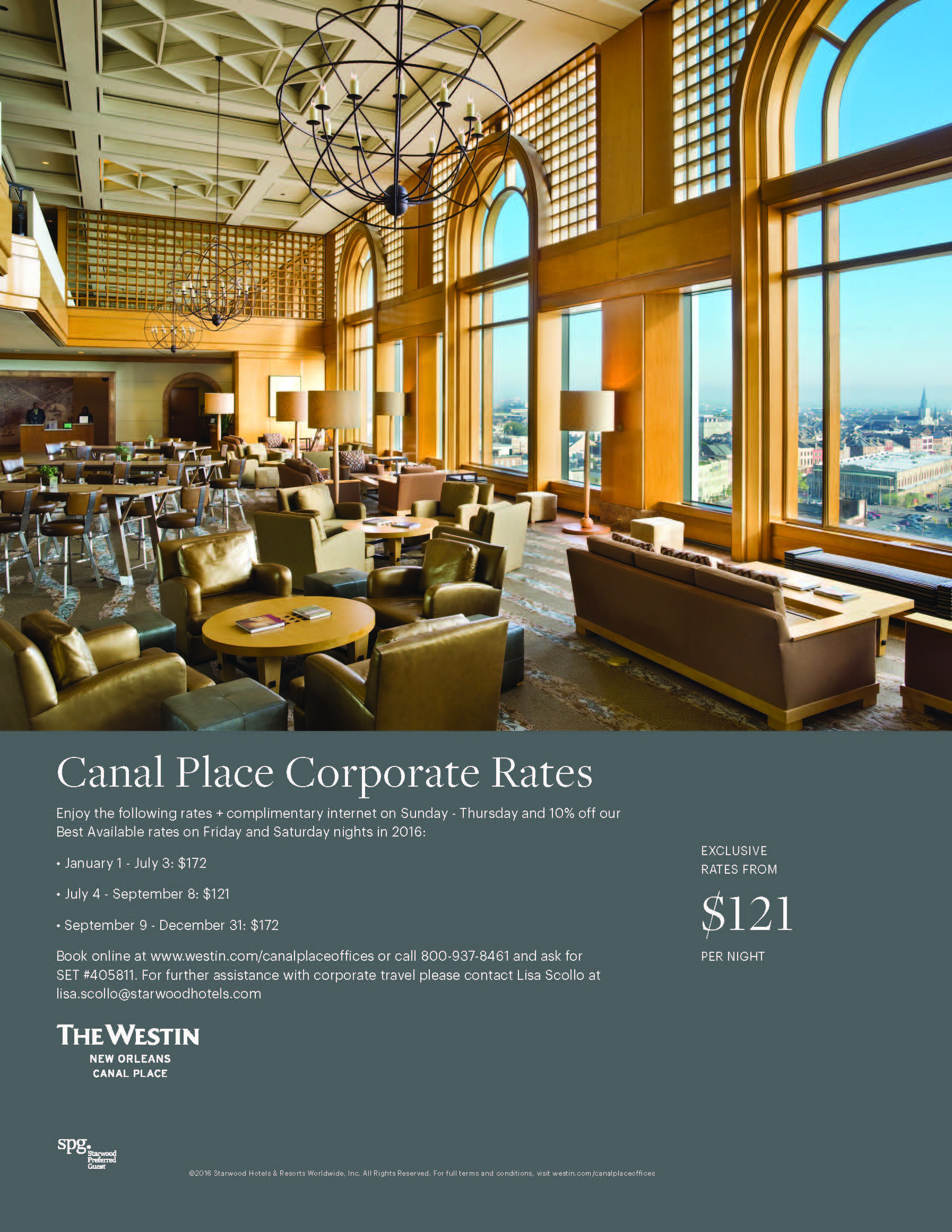 Westin New Orleans - Canal Place 2016 rates